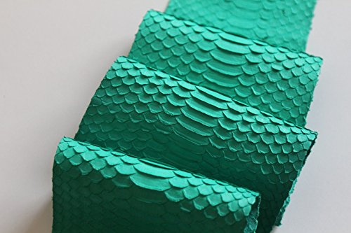 Asia Sea Python Snake Skin Hide Leather Snakeskin Matte Turquoise