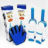Professional Pet Fur & Lint Remover (2 Pack) with Self-Cleaning Base Double-Sided Brush Removes Dog & Cat Hair from Clothes & Furniture