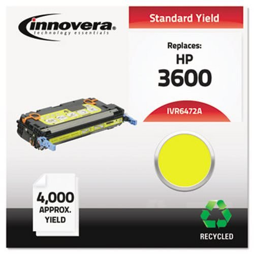 (Innovera 6472A Compatible, Remanufactured, Q6472A (502A) Laser Toner, 4000 Yield, Yellow (IVR6472A) )