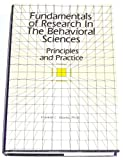 Fundamentals of Research in the Behavioral Sciences, Franklin C. Shontz, 088048215X