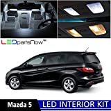 506 led bulb - LEDpartsNow 2006-2010 Mazda 5 LED Interior Lights Accessories Replacement Package Kit (8 Pieces), WHITE