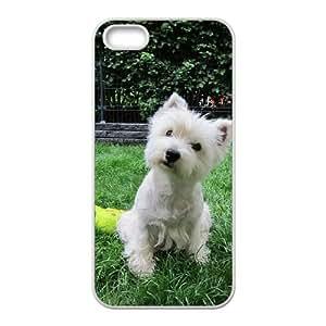 Cute Westie pup Funda iPhone 4 4s Funda Caja del teléfono celular blanco O4W8CO