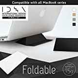 Foldable Laptop Stand (ECO Black) IDEA 2017 Finalist Ultralight (15g) Ultra Thin (0.8mm) Portable Origami, Comp. for Mac, Reduces Back, Shoulder, Wrist Pain, Dissipates Heat, Made In Japan