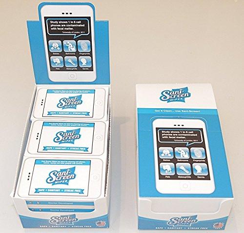 San-it, Sani-Screen Phone Screen Wipes - iPhone, Android, iPad 96ct.