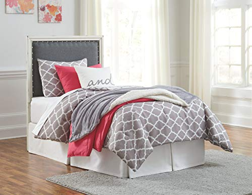 Signature Design by Ashley B485-53 Faelene Twin Upholstered Headboard, Chipped White