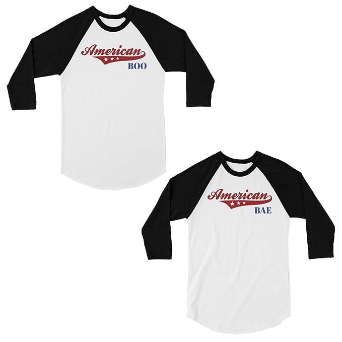 Amazon.com: 365 - Camiseta de béisbol para parejas, diseño ...