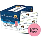 Hammermill Colored Paper, Cherry Printer Paper, 20lb, 8.5x11 Paper, Letter Size, 5000 Sheets / 10 Ream Case, Pastel Paper, Colorful Paper (102210C)