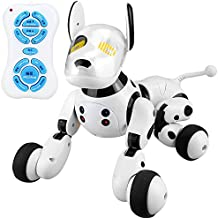 WNDYDX Robot Dog Smart Dog Electronic Pets, Remote Control Dog Toy Interactive Puppy with Immersive Sound, Humanistic Care and Rechargeable Mode