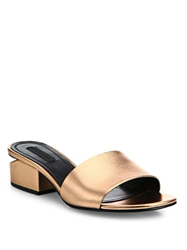 65090c62b82 Image Unavailable. Image not available for. Color  Alexander Wang Lou  Metallic Samdal Slide ...