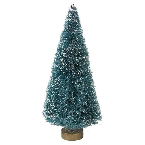 Doll Christmas Decoration (SODIAL(R) 1/12 Dollhouse Miniature Garden Christmas Tree kid mini toys Garden decoration Plastic Tree doll house accessories learning toys pretend play 17cm height (Color: Green))