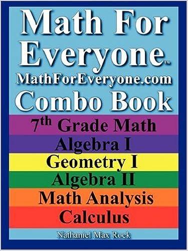 Amazon.com: Math For Everyone Combo Book: 7th Grade Math, Algebra I ...
