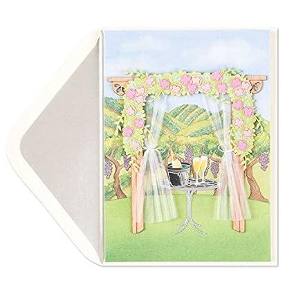 Viñedo bodas escena Tarjeta de boda: Amazon.es: Oficina y papelería