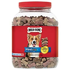 Milk-Bone Mini's Flavor Snacks dog biscuits feature the same teeth-cleaning and vitamin-enriched goodness of Milk-Bone Original biscuits in a tasty bite-sized treat.