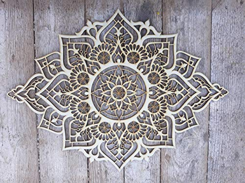 Mandala Wood Home Decor, Boho Ethnic Housewarming Wall Hanging, Morrocan Indian Wall Art, Sacred Geometry Yoga Studio, Unique Handmade Spiritual Gift by Tohar Wood Design (Image #9)