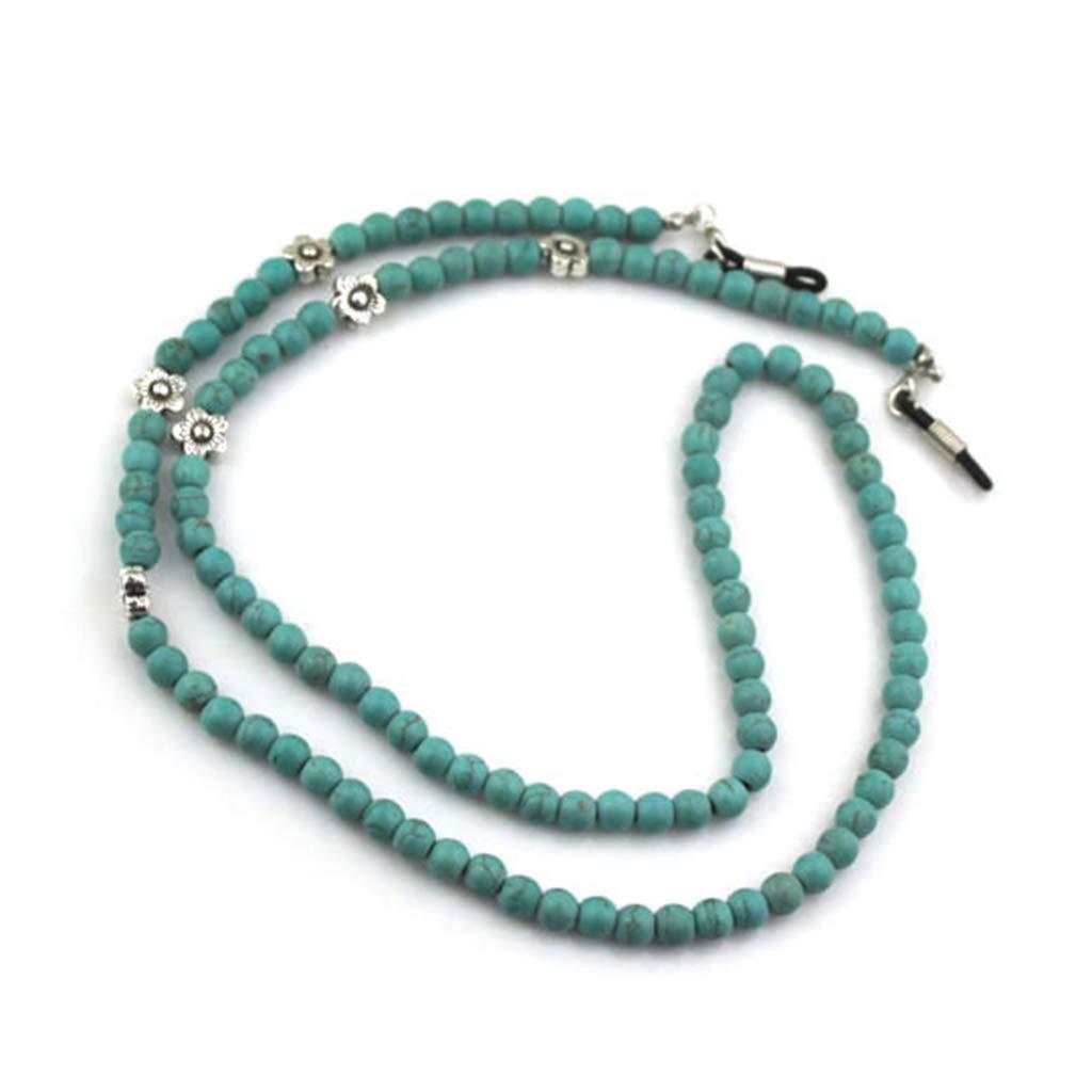 99a5a96924 Bduco 2018 Fashion Reading Glasses Chain Green Beads Anti-slip Eyewear Cord  Sunglasses Holder Lanyard Neck Strap Eyeglass Rope at Amazon Women s  Clothing ...