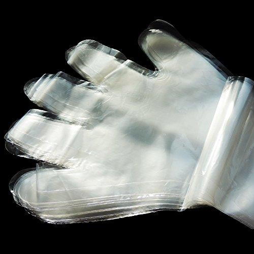 Lucky Farm 50Pcs Disposable Soft Plastic Film Gloves Transparent Long Arm Veterinary Examination Artificial Insemination Glove by Lucky Farm (Image #2)