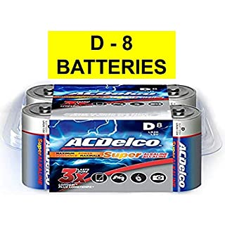 ACDelco D Batteries, Super Alkaline Battery, 8 Count Pack (B009PPNHHE) | Amazon Products