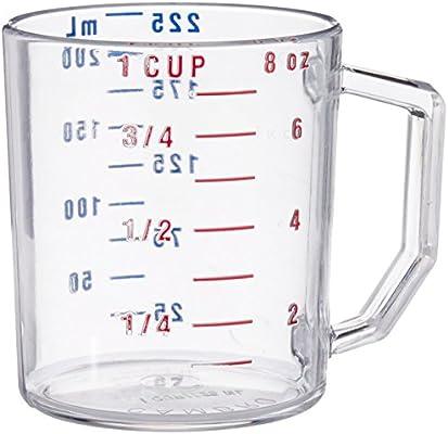 Taza de medición Camwear, 1 taza, medida en seco, claro ...