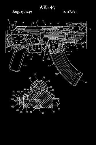 AK-47: Notebook - Vintage Gun Russian Rifle Journal - AK47 Shooting Range Log (Blank Lined Notebook) AK47 Notebooks