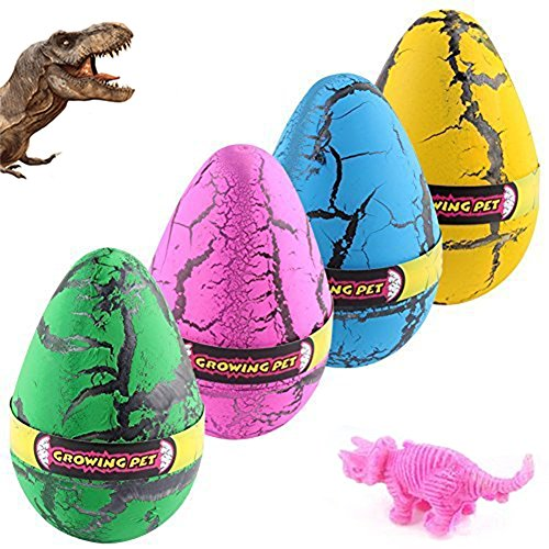 ykl world hatching dinosaurs eggs large size crack surprise egg growing toys that hatch in water with mini toy dino figures inside for kids party favors