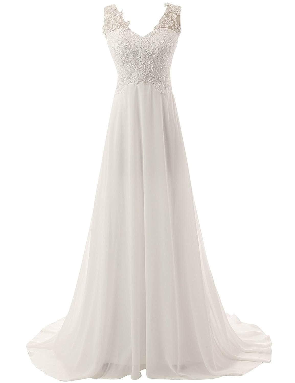 Amazon Chupeng Romantic Beach Wedding Dress A Line Empire Waist
