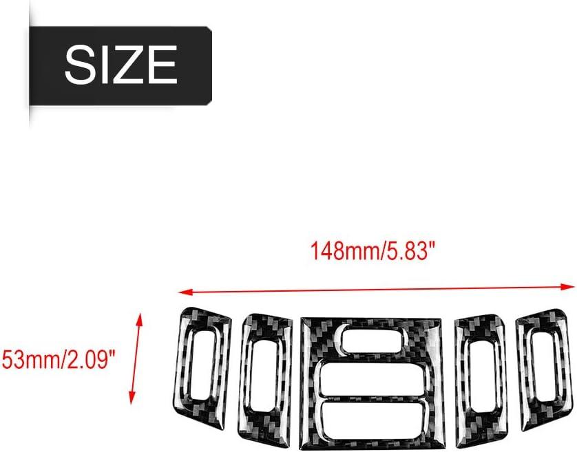 A Qiilu Carbon Fiber Car Interior Air Conditioner Outlet Panel Frame Cover Trim for E90//92//93