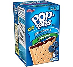 Kellogg\'s Pop Tarts Blueberry - 14.7 oz ( Package of 2) Unfrosted