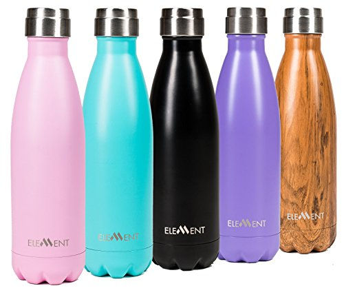 Stainless Steel Water Bottle Double Wall Vacuum Insulated 17 oz