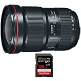Canon EF 16-35mm f/2.8L III USM Ultra Wide Angle Zoom Lens (0573C002) with Sandisk Extreme PRO SDXC 128GB UHS-1 Memory Card, Up to 95/90MB/s Read/Write Speed
