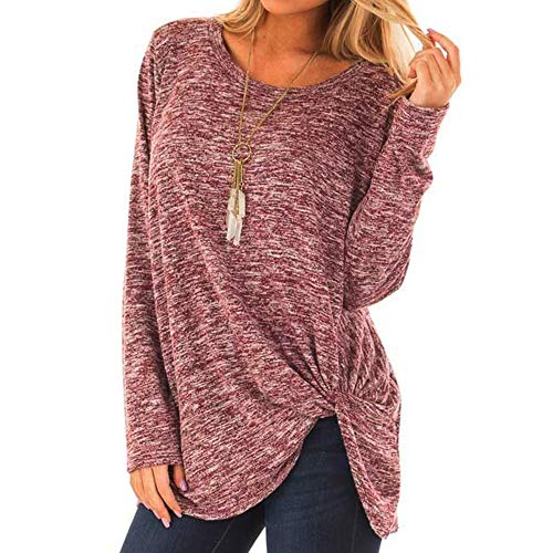 Orangeskycn Womens Pullover Casual O-Neck Solid Baggy Comfy T-Shirt(Most Wished &Gift Ideas) ()