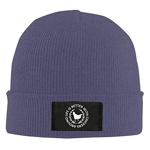Cool Chickens Around with Beanie Life Hhaj Navy Better Is Cap Knit dawSYdqf