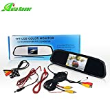 Backup Camera and Monitor Kit,Auto Rover 4.3-inch LCD Rear View Mirror Monitor For DVD/VCR/Car Rearview Camera + HD Night Vision Reverse Camera For Parking Assistance System