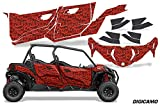 AMR Racing UTV Graphics kit Sticker Decal Compatible with Can-Am Maverick Sport MAX DPS 4-Door 2019 - DigiCamo Red