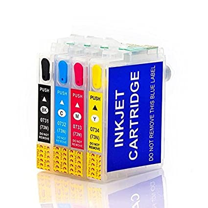 AC 303 cartridge Refillable Empty Cartridges 73N for All Epson Printer  TX210/T13/TX121 with Auto Reset Chip