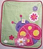 High Pile Crib Blanket Lady Bug