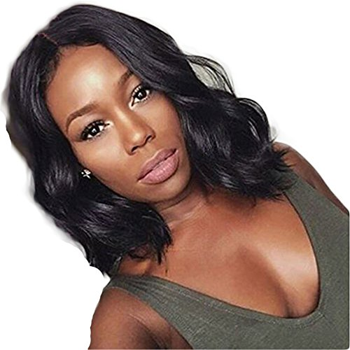 Short Wigs On Sale (Lanting Hair Wigs Brazilian Virgin Cheap Human Hair Lace Front Wigs Glueless Short Bob Full Lace Wig Wavy With Baby Hair For Black Women Short Wavy Lace Wigs On Sale 10Inch Lace Front Wig)