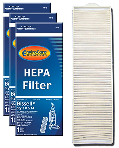 EnviroCare Replacement Post Motor HEPA Filter for Bissell Style 8 & 14 Uprights 3 Filters ()