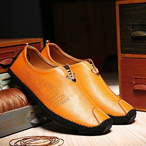 Orange qualité Chaussures classique Casual conduisant Casual Patins la haute Chaussures L'Homme de voiture 1qpxwFn7g