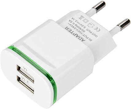 STRIR Cargador con 2 Puertos USB 5V/2.1A y 5V/1A USB Adaptador de ...
