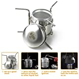 Od-sport Copper Alloy Alcohol Camping Stove - Ultra-light Mini Personal Alcohol Burning Stove, Outdoor Hiking Furnace with Stand, Cooking Portable Collapsible Burner Camp Equipment