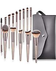Bestope-Lot de 14pinceaux synthétiques de maquillage pour fond de teint, Kabuki, blush, correcteur, fard à paupières