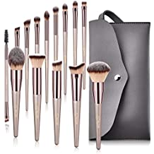 BESTOPE Makeup Brushes Set 14 PCs Cosmetic Brushes with Tote Bag Premium Synthetic for Foundation Blending Blush Powder Blush Concealers Eye Shadows Brushes Kit