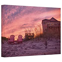 Art Wall 'Outer Banks-pink' Gallery Wrapped Canvas Art By Dan Wilson, 32 By 48-inch