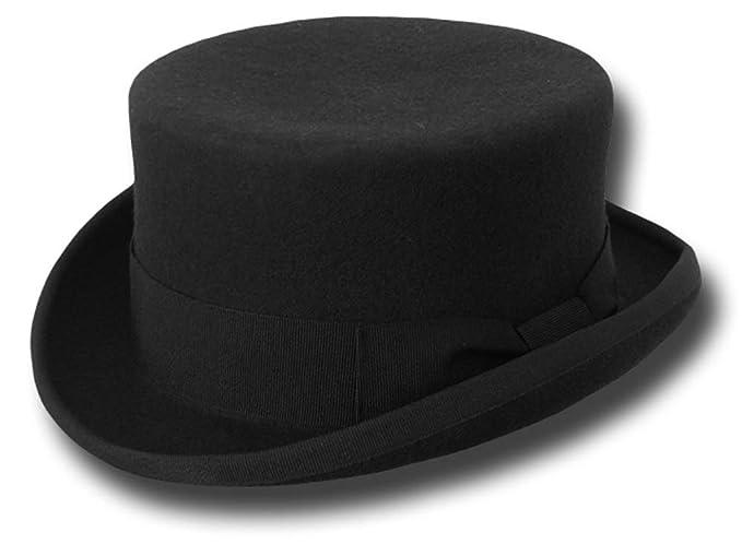 Cappello Mezzo Cilindro Feltro di Lana  Amazon.it  Abbigliamento 1a05f7a8bacc