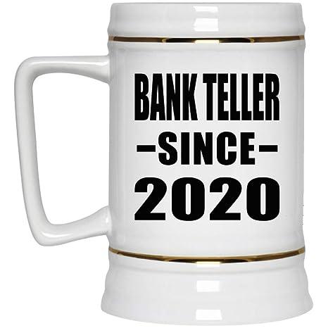 Best Beers 2020 Amazon.| Bank Teller Since 2020 22oz Beer Stein Ceramic Bar