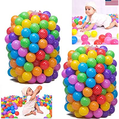 COOFIT 200PCS Ocean Balls Creative Funny Multi-Purpose Pit Balls Play Balls for Kids: Toys & Games