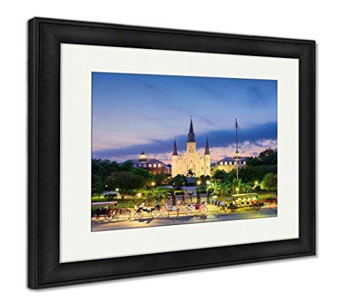 Ashley Framed Prints New Orleans At Jackson Square, Wall Art Home Decoration, Color, 26x30 (frame size), Black Frame, AG5624908