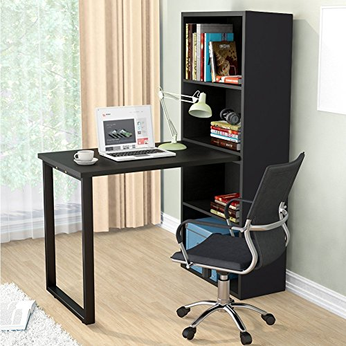 Tribesigns Modern Stylish Hobby Desk , Annexe Collection Work Table and Storage Unit Combo for Study Bedroom Craft