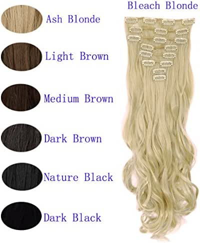 FUT Women 8pcs 18 Clips in Hair Extensions 17