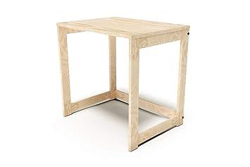 Abc meubles bureau alban bois massif couleur vernis naturel